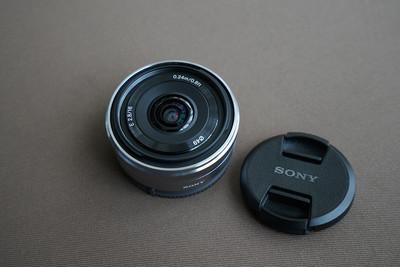 索尼16 mm  f/2.8  E卡口  大广角 定焦镜头 饼干头 APS-C画幅