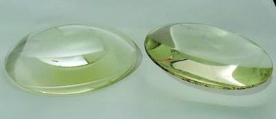 一对直径126mm中间最大厚度20mm4X5寸放大机用的聚焦镜(凸透镜)