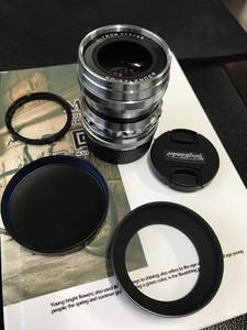福伦达ULTRON M35/f1.7镜头,银色纯铜,箱说配件齐全