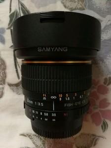 韩国三阳8mm焦距180度鱼眼镜头半幅尼康口