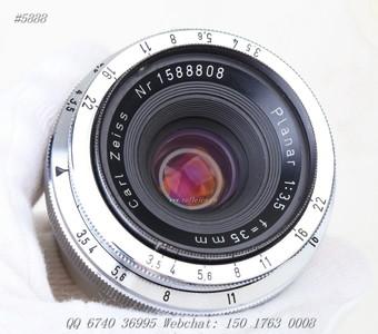 (5888) Planar 35 f3.5 Ziess Ikon 1588808 绝响 收藏!¥8200
