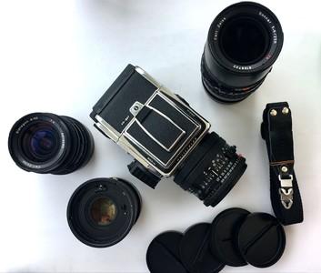 哈苏503CW+CF50FLE+CFi100+CFi250+2XE增距镜+新款A12背 套机