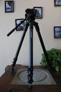 95新Manfrotto曼富图504云台+536K 摄影三脚架套装(W11224)武