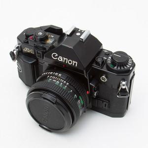 Canon佳能 A-1 + FD 50/1.8 135胶片单反套机 90新 NO:6746/5333