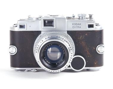 【一代名機】Kodak/柯达 ektra 银色机身 带50/1.9镜头 #jp18011