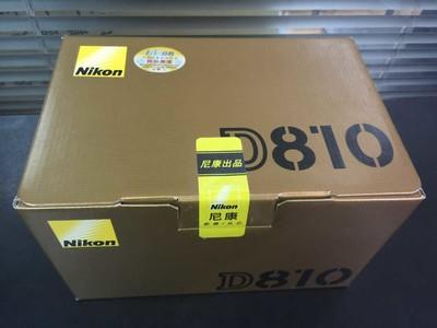尼康 D810 全新国行,全国联保,支持售后验机