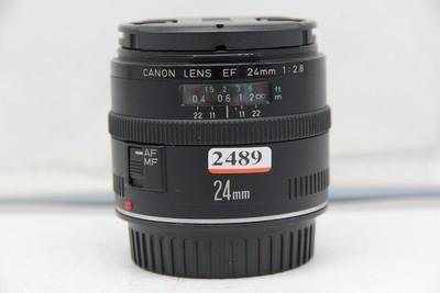 95新二手 Canon佳能 24/2.8 EF 广角定焦镜头(2489)【深】