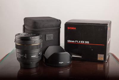 适马50mm F1.4 EX DG镜头 A标 98新  佳能卡口