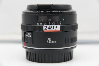 97新二手 Canon佳能 28/2.8 EF 广角定焦镜头(2493)【深】