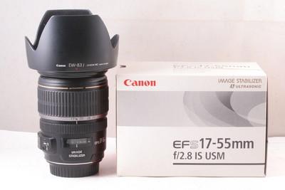 98/佳能 EF-S 17-55/2.8 IS,带原厂遮光罩 ( 全套包装 )