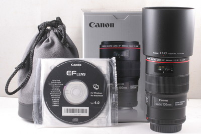 99/佳能 EF 100/2.8L IS 红圈百微镜头( 全套包装 ) 编号:UE