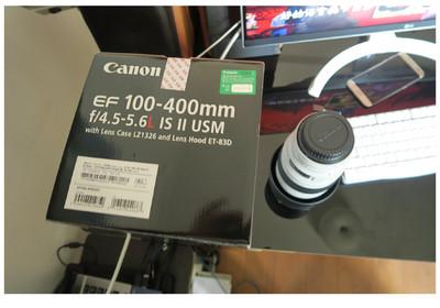 佳能 EF 100-400mm f/4.5-5.6L IS II,行货在保99新