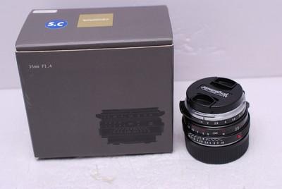 福伦达 35 mm F1.4 35/1.4 徕卡M口 福伦达35/1.4 SC 99新 带包装