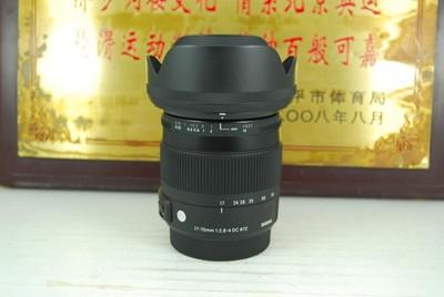 99新 MA口 适马 17-70 F2.8-4 C标 单反镜头 非全幅广角中焦挂机