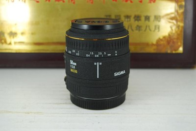 99新 佳能口 适马 50mm F2.8 macro 单反镜头 微距人像 可置换