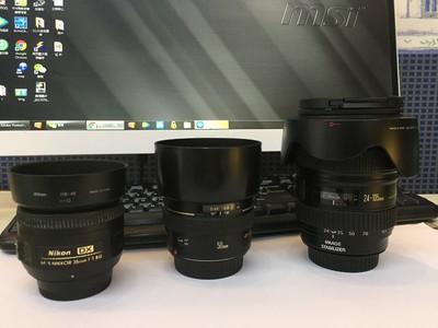 佳能 EF 24-105mm f/4L IS USM  佳能50 1.4  尼康35 1.8