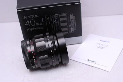 福伦达 40 mm F1.2 40/1.2 索尼E口 福伦达40/1.2 99新 带包装