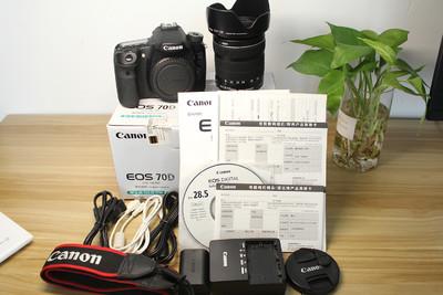 99新Canon/佳能70D+18-135STM镜头套机单反相机二手国行