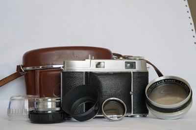 柯达Kodak雷丁娜Retina IIc 1机2镜套装,带遮光罩、滤镜、皮套
