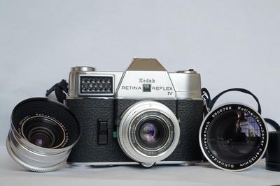柯达Kodak RetinaReflex IV单反机身2.8/50、4/28和4/135镜头套装