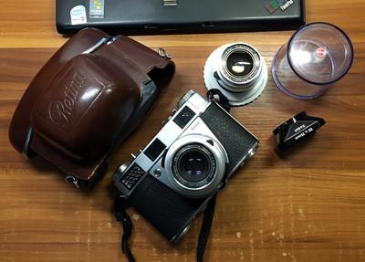 Kodak Retina IIIS收藏套机,带50和35头,功能正常,成色新净!