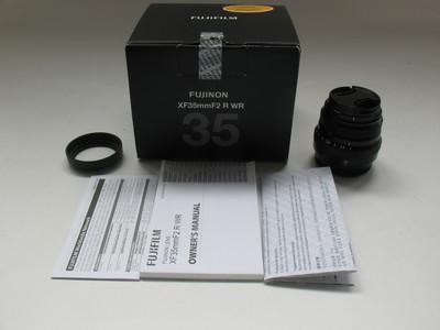 成色极好 国行富士XF 35 F2 WR 带遮光罩包装盒 支持置换#0005