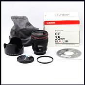 canon 佳能 EF 35/1.4 35 F1.4L USM 红圈 (收购 交换)