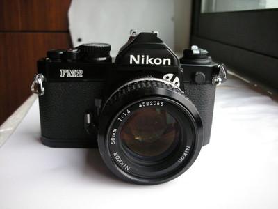 很新尼康Nikon FM2黑色经典相机带50mmf1.4镜头