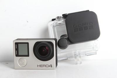 95新二手 GoPro Hero4 黑狗4 银色 水下防水运动型摄像机B6474京