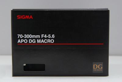 99.99%新适马 APO 70-300mm f/4-5.6 DG Macro 佳能口 全画幅红圈