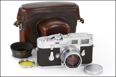 徕卡 Leica M3 + 50/2 银色套机 带光罩 黄镜 皮套