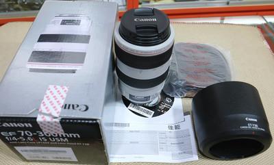 佳能 70-300/4-5.6L IS 防抖胖白 行货带全套包装