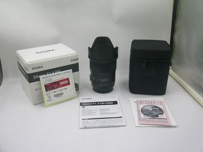 出售 99新 适马 35mm f/1.4 DG HSM 佳能口 包装齐全 请看图片