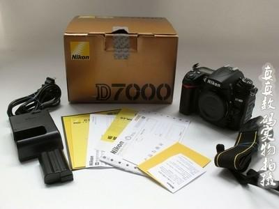 崭新 国行 尼康 D7000 单机 原电原充 快门二千 带原包装盒 #8730