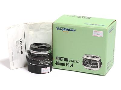 福伦达 Nokton Classic 40mm F/1.4镜头 徕卡M口 *美品连盒*