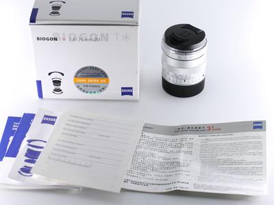 蔡司 ZEISS BIOGON T* 25/2.8 ZM 徕卡口 银色镜头 带原厂取景器