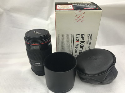 Canon/佳能 100mm f/2.8L IS USM红圈头带原包装