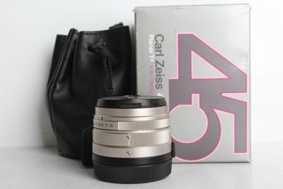 94新二手Contax康泰时 45/2 定焦镜头 适用G1 G2(B6891)【京】