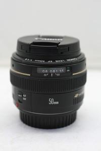 95新二手 Canon佳能 50/1.4 EF 标准定焦镜头(1220)【深】