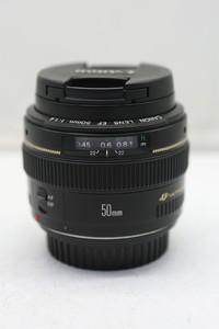95新二手 Canon佳能 50/1.4 EF 标准定焦镜头(1219)【深】