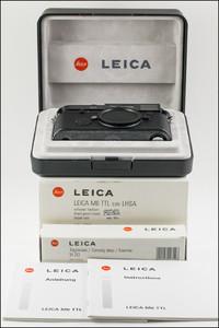 徕卡 Leica M6 TTL 0.85 LHSA 千禧黑漆 纪念机 全新收藏