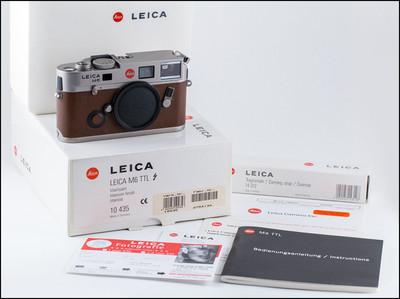 徕卡 Leica M6 TTL 072 钛版 黄牛皮 带包装 全新收藏