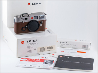 100全新收藏 徕卡 Leica M6 TTL 072 钛版 黄牛皮 带包装