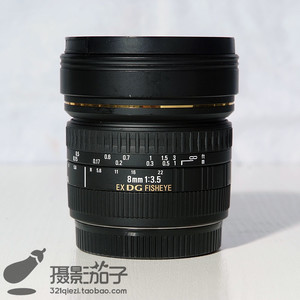 99新适马8mm f/3.5 EX DG (佳能口)#2737[支持高价回收置换]