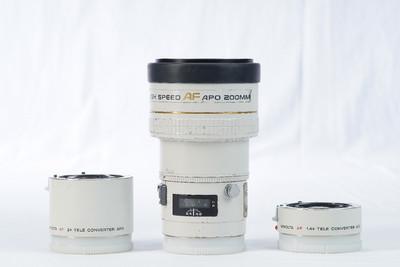 套出,美能达 AF 200/2.8G APO,1.4X增距镜,2.0X增距镜