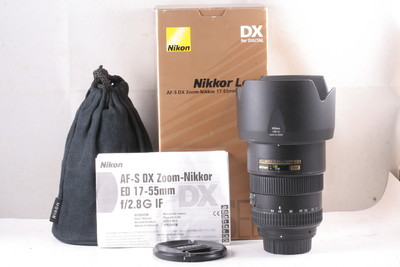 97/尼康 AF-S DX 17-55mm f/2.8G IF-ED 成色极新(全套包装)