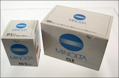 新品展示品 美能达 Minolta CLE + 40/4 套机