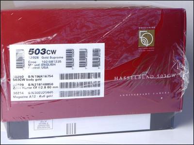 哈苏 Hasselblad 503CW 50周年红皮黄金 纪念机 包装齐全