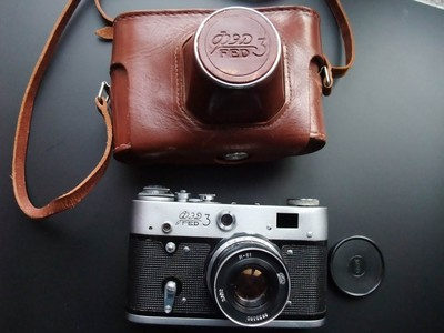 Fed3  52mm/f2.8 前苏联旁轴胶片相机 含皮套 480元包邮