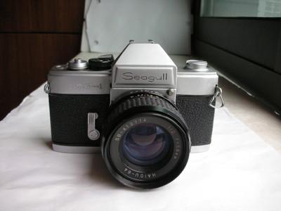 很新海鸥DF--1金属制造单反相机带58mmf2镜头,收藏使用